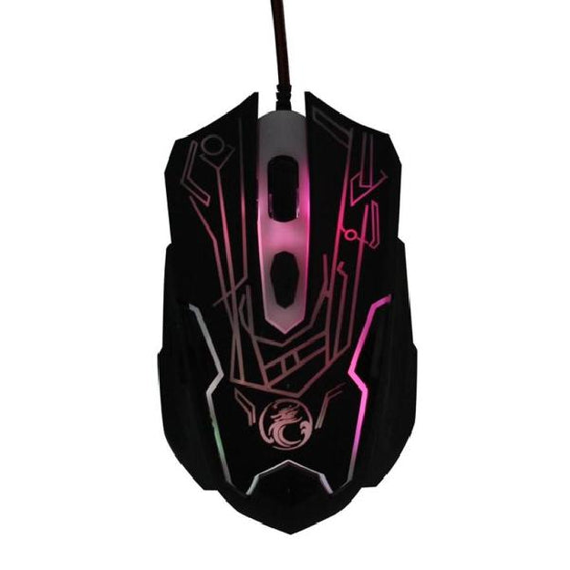 Wired Gaming Optical Positioning 2000 DPI 6 Button Glowing Mouse