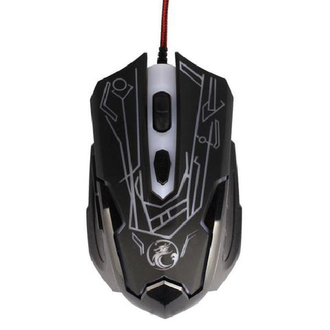 Image of Wired Gaming Optical Positioning 2000 DPI 6 Button Glowing Mouse