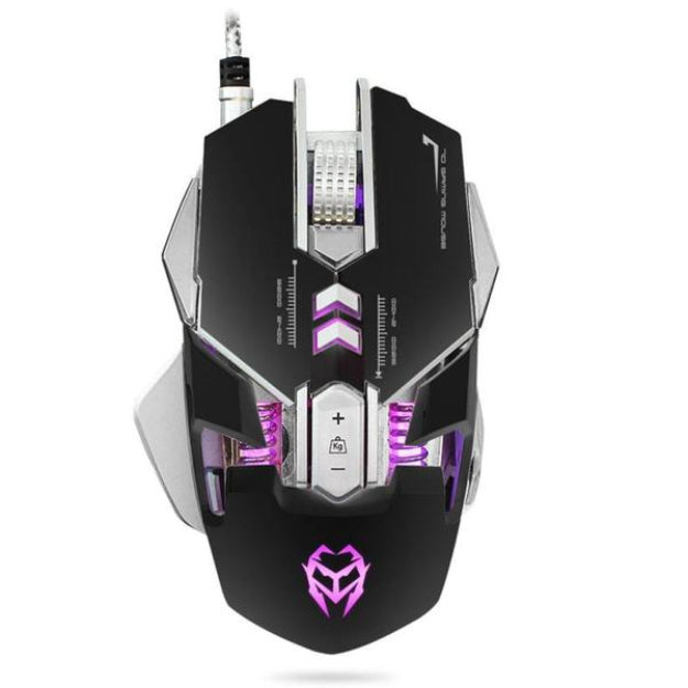 Wired Gaming Optical Positioning Adjustable 3200 DPI 7 Button Glowing Mouse