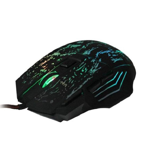 Wired Gaming Optical Positioning 5500 DPI 7 Button LED Glowing Mouse