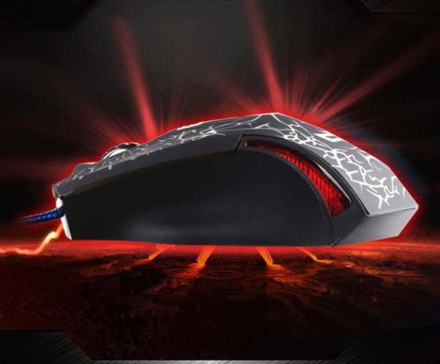 Wired Gaming Optical Positioning 2400 DPI 6 Button Glowing LED Mouse