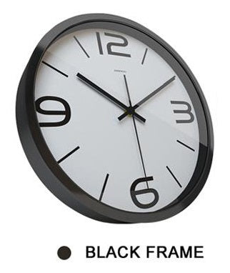 Paper-cut Flower High Definition Print Black Frame Quartz Wall Clock