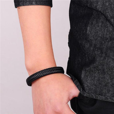 Image of Luxury Braided Leather Bracelet