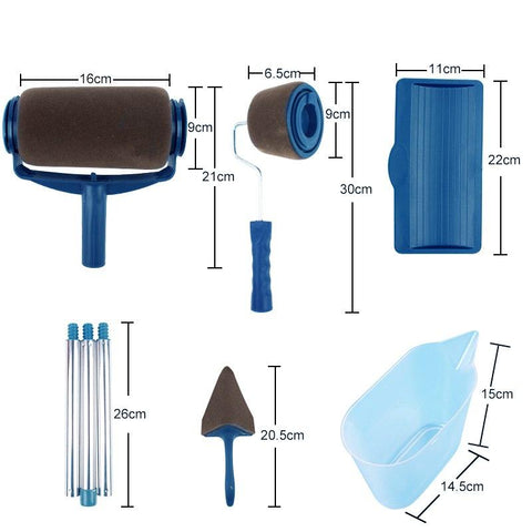 Image of Pro Wall Painting Rollers Set (8PCS)