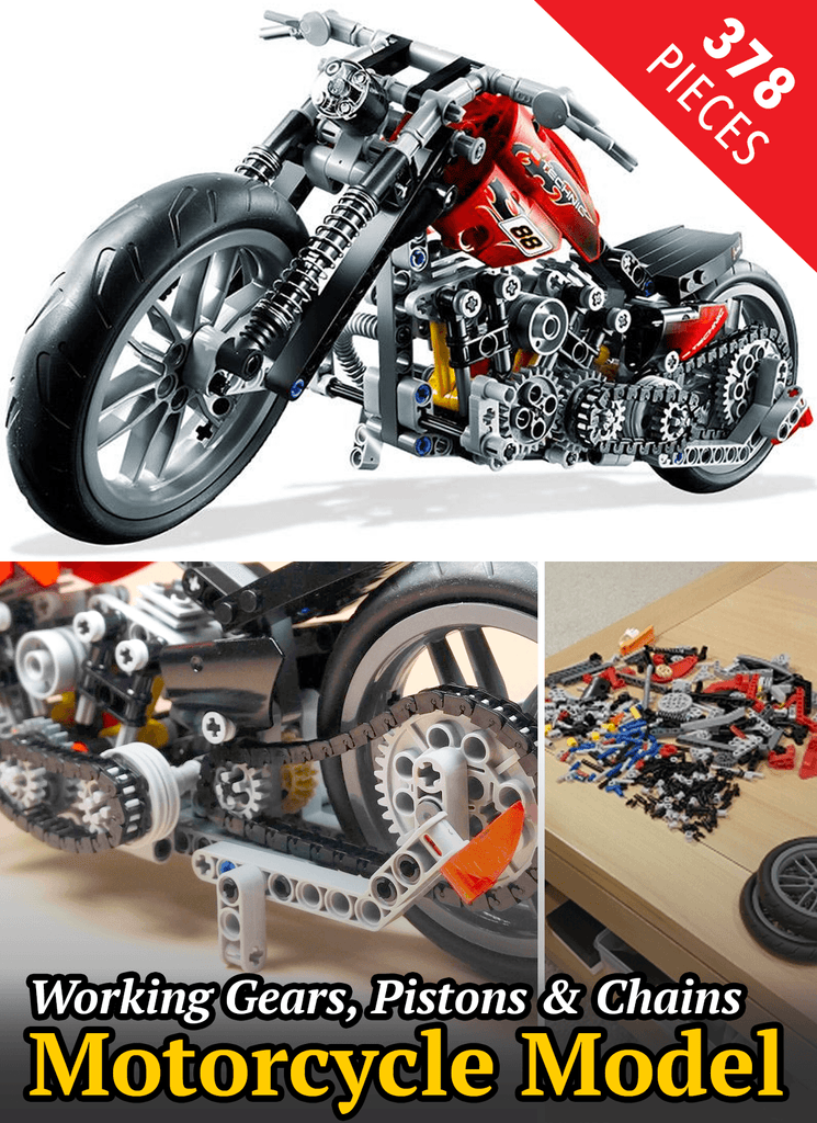 378 pc Motorcycle Block Set Toy