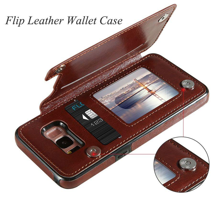 Samsung Galaxy 4 in 1 Retro Leather Case Cover Wallet
