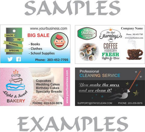 Image of 14PT Uncoated 2 Side Full Color Business Cards