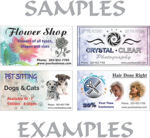 Image of Stickers 1 Side Full Color Business Cards
