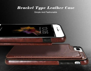 Retro iPhone Leather Wallet Case