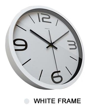 Image of Delicate Peacock High Definition Print White Frame Quartz Wall Clock