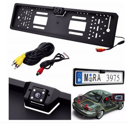 Image of Waterproof European License Plate Frame Rear View Camera