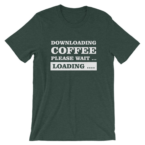 Image of Downloading Coffee Short-Sleeve Unisex T-Shirt