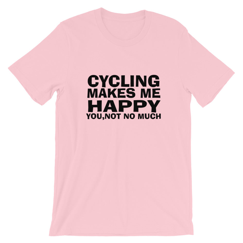 Cycling Makes Me Happy Short-Sleeve Unisex T-Shirt