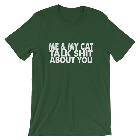 Image of Me And My Cat Short-Sleeve Women T-Shirt