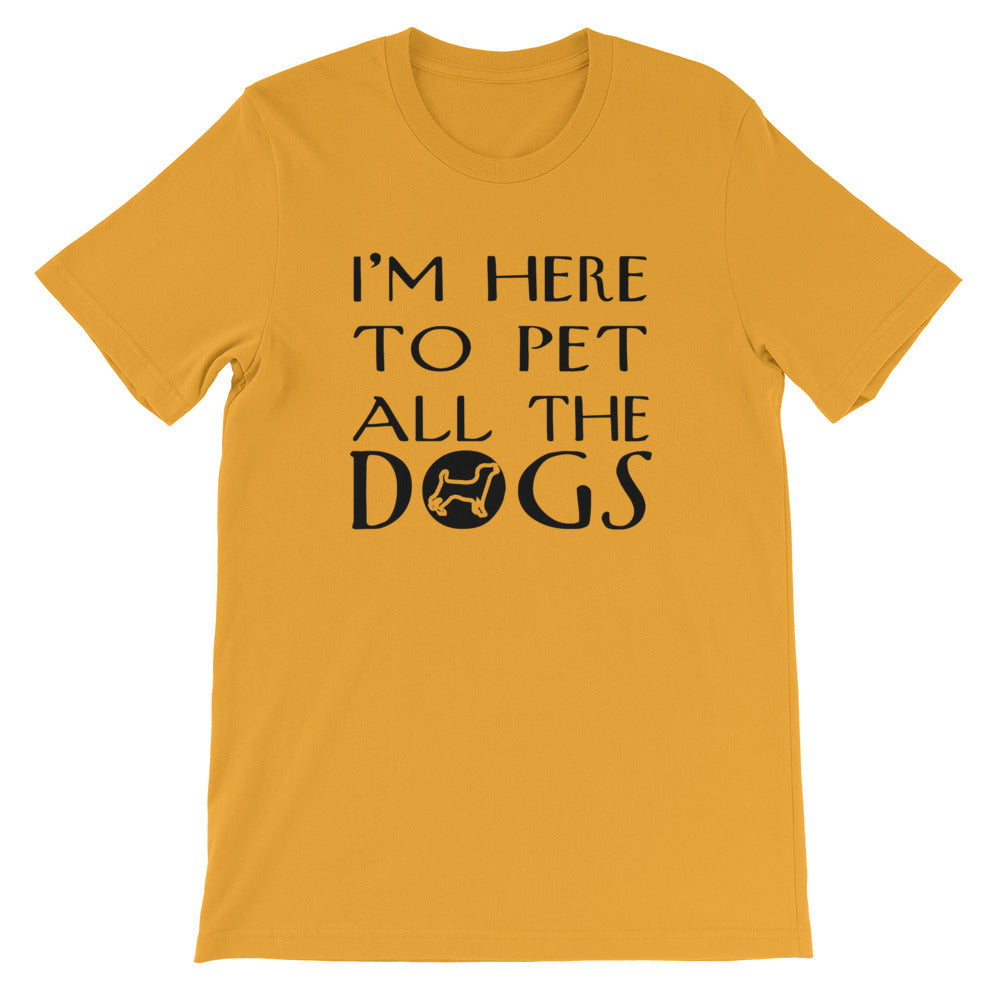 Pet All The Dogs Short-Sleeve Unisex T-Shirt