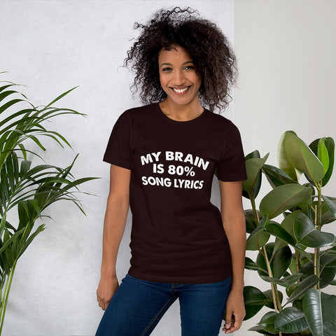 Image of 80% Song Lyrics Short-Sleeve Women T-Shirt