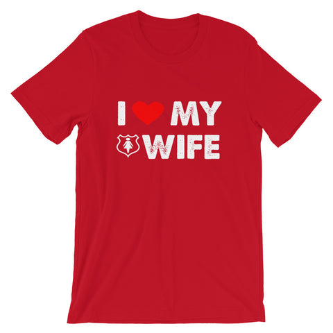 Image of I Love My Wife Short-Sleeve Unisex T-Shirt