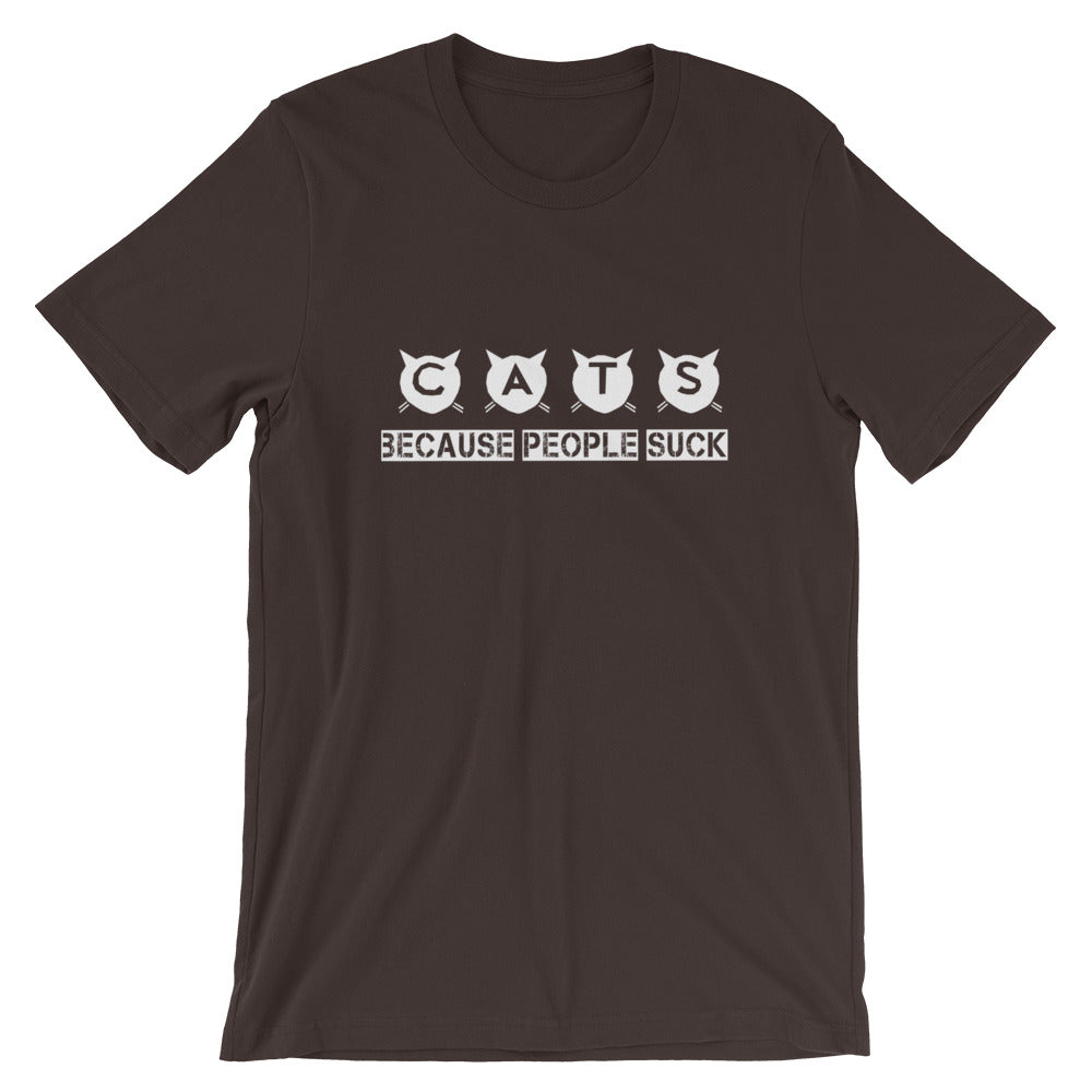 Cats Because People Short-Sleeve Unisex T-Shirt