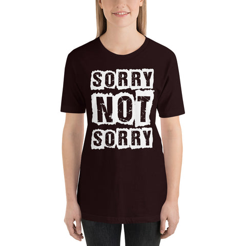 Image of Sorry Not Sorry Short-Sleeve Women T-Shirt