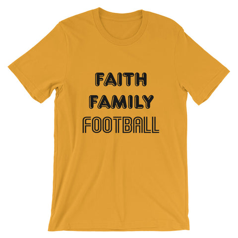 Image of Faith Family Football Short-Sleeve Unisex T-Shirt