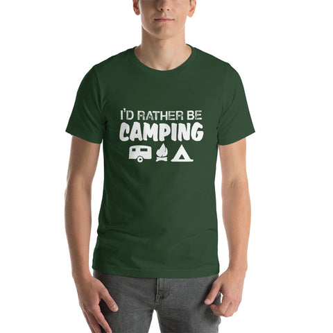 Image of I'd Rather Be Camping Short-Sleeve Unisex T-Shirt