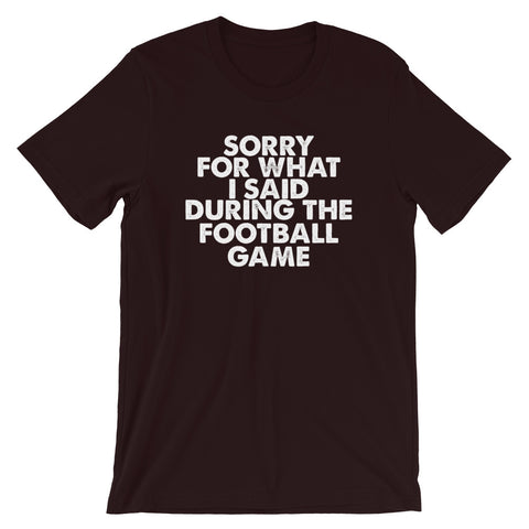 Image of Football Sorry Short-Sleeve Unisex T-Shirt