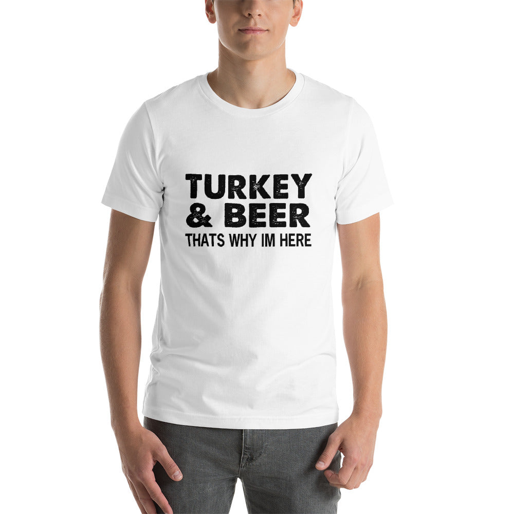 Turkey And Beer Short-Sleeve Unisex T-Shirt