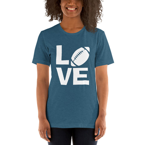 Image of Love Football Short-Sleeve Women T-Shirt