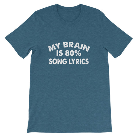 Image of 80% Song Lyrics Short-Sleeve Unisex T-Shirt