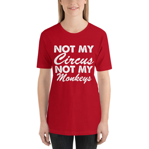 Not My Monkeys Short-Sleeve Women T-Shirt