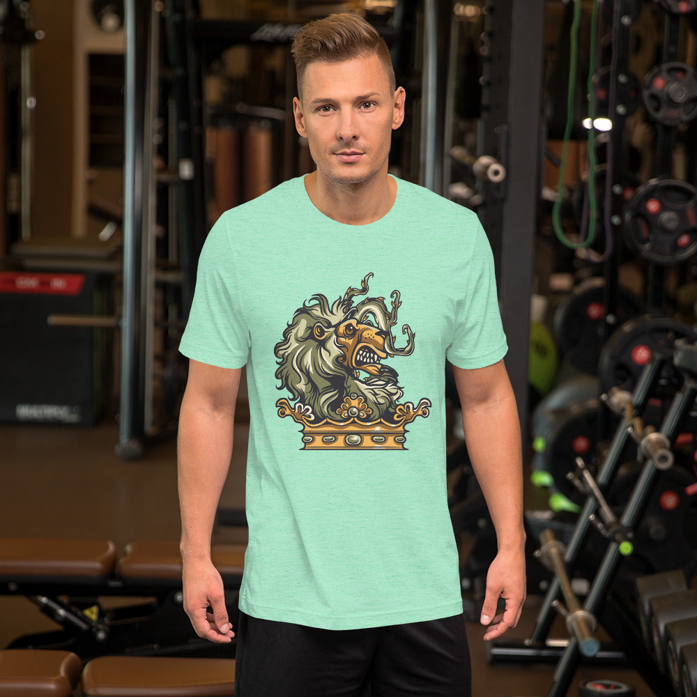 Lion Head Short-Sleeve Unisex T-Shirt