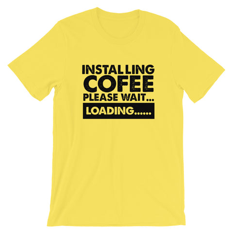 Image of Installing Coffee Short-Sleeve Unisex T-Shirt