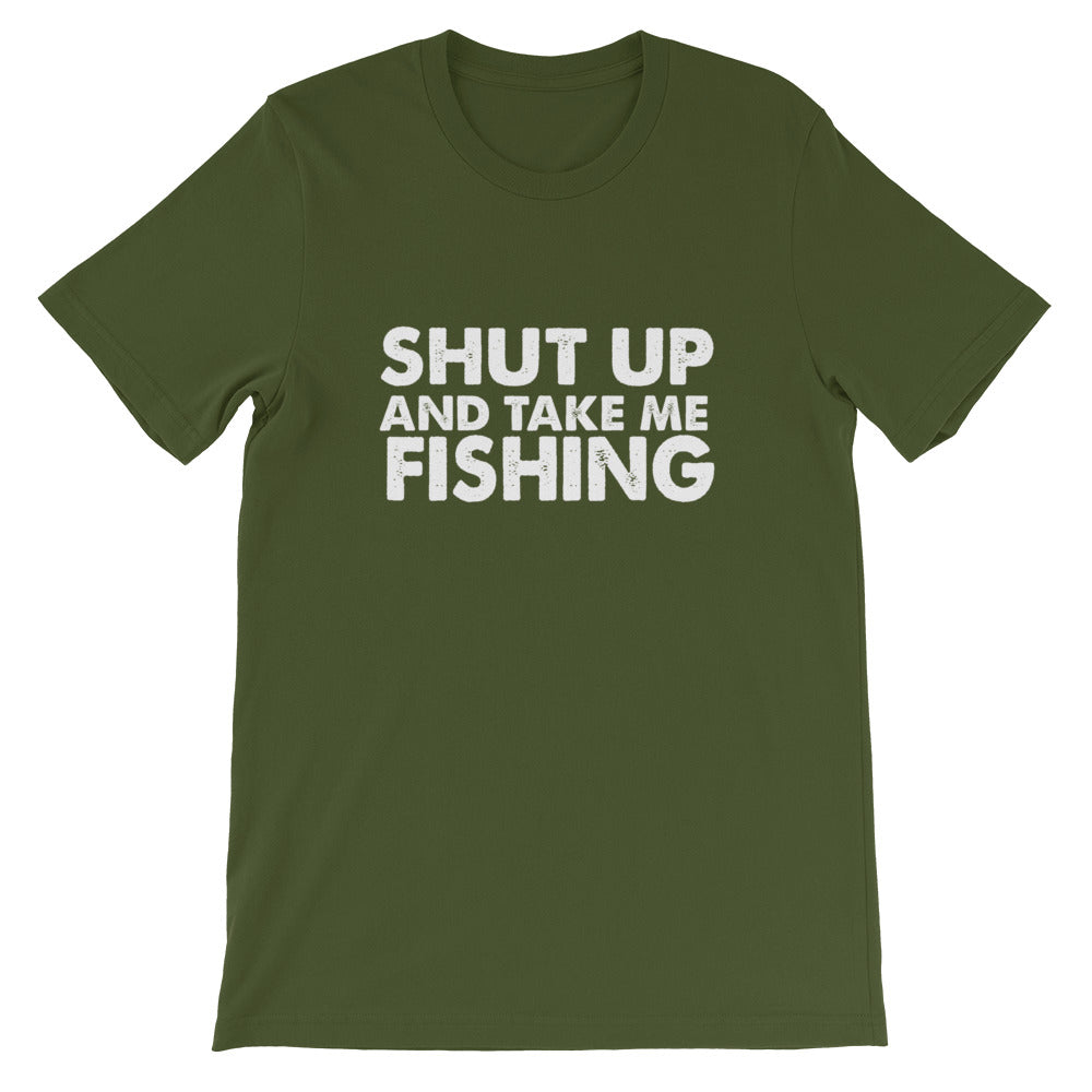 Take Me Fishing Short-Sleeve Unisex T-Shirt