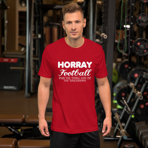 Image of Horray Football Short-Sleeve Unisex T-Shirt