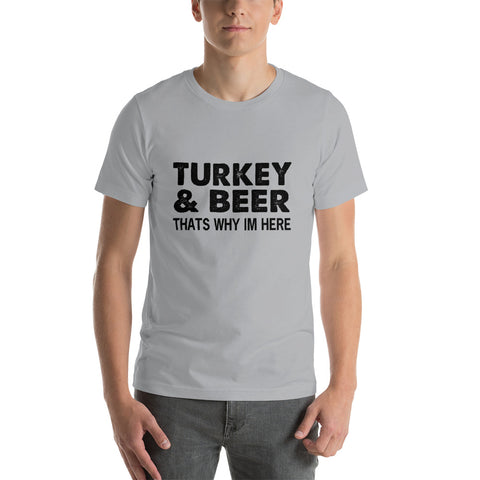 Image of Turkey And Beer Short-Sleeve Unisex T-Shirt