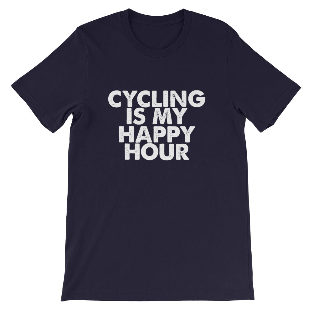 Cycling Happy Hour Short-Sleeve Unisex T-Shirt