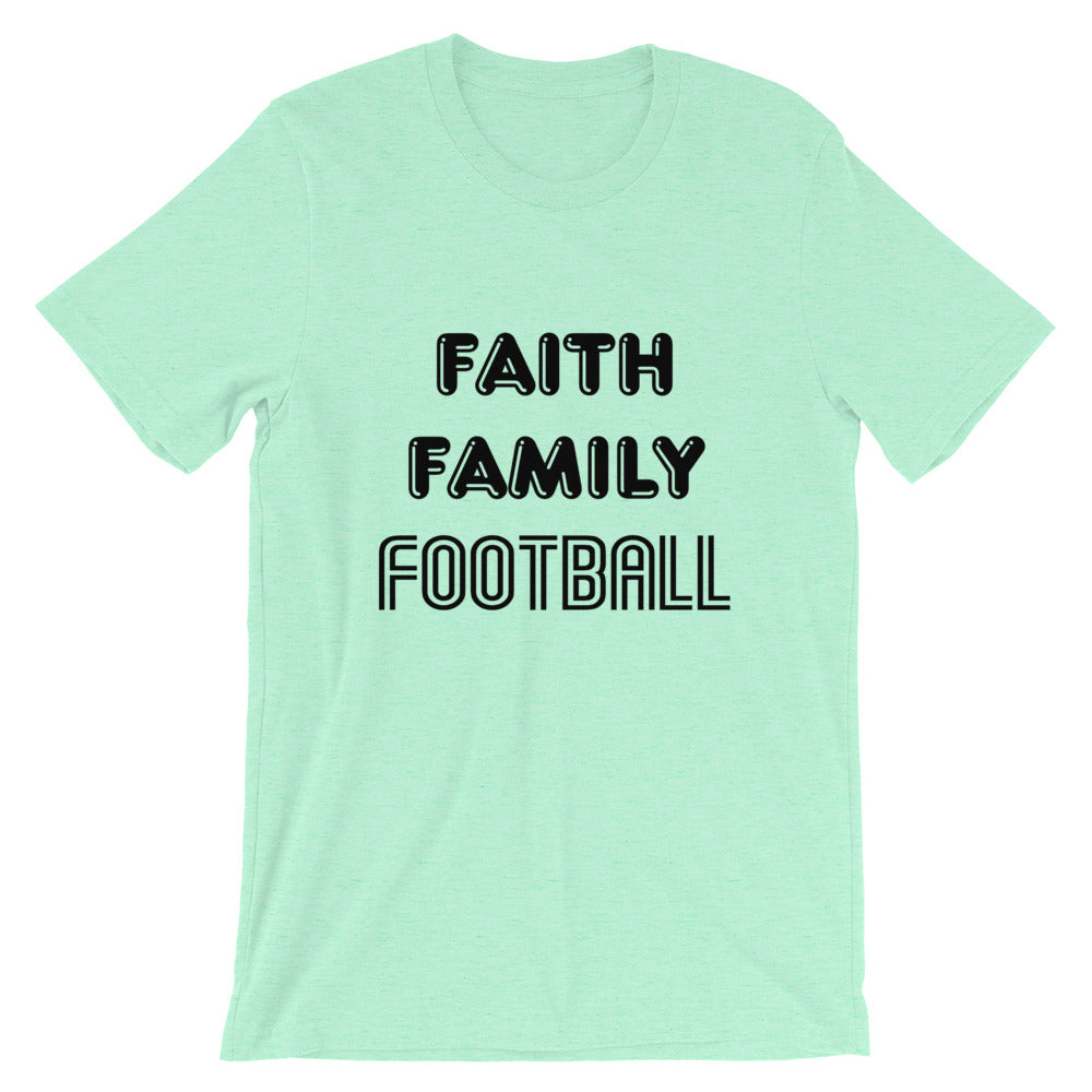 Faith Family Football Short-Sleeve Unisex T-Shirt
