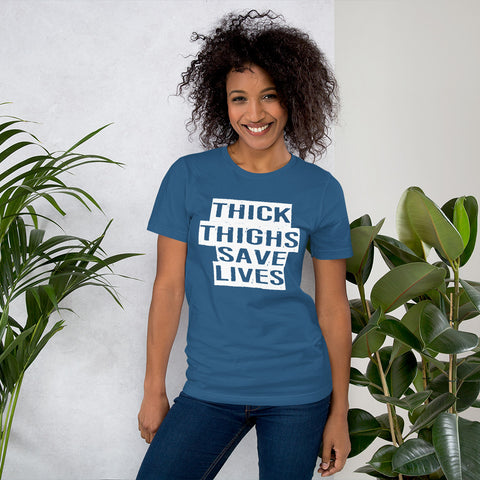 Image of Thick Thighs Save Lives Short-Sleeve Women T-Shirt