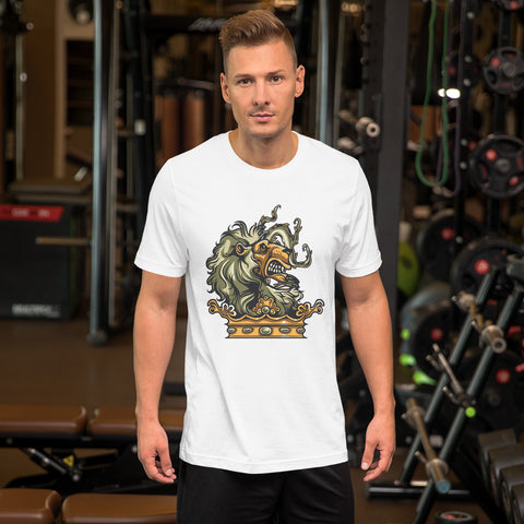 Image of Lion Head Short-Sleeve Unisex T-Shirt