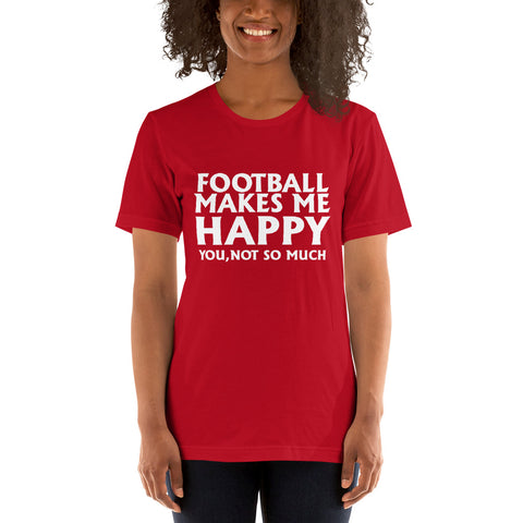 Image of Football Makes Me Happy Short-Sleeve Women T-Shirt