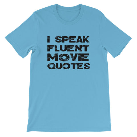 Image of Movie Quotes Short-Sleeve Unisex T-Shirt