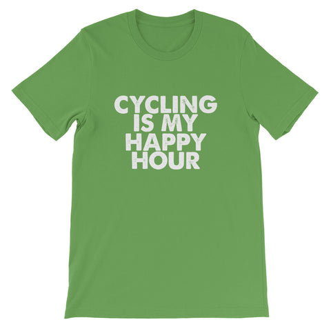 Image of Cycling Happy Hour Short-Sleeve Unisex T-Shirt