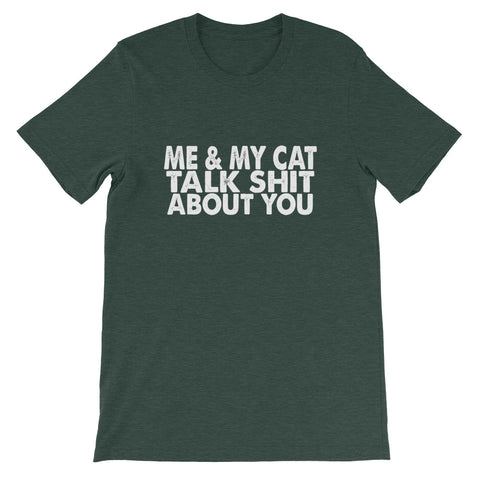 Image of Me And My Cat Short-Sleeve Unisex T-Shirt