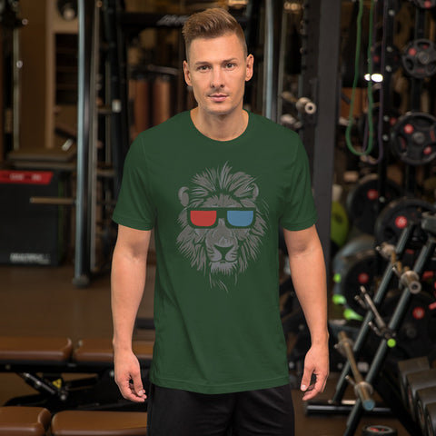 Image of Cool Lion Face Short-Sleeve Unisex T-Shirt