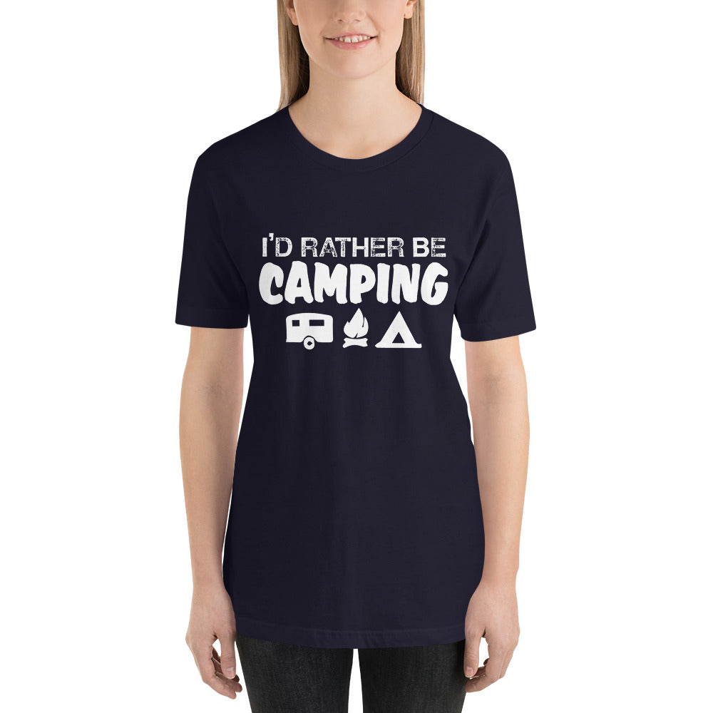 I'd Rather Be Camping Short-Sleeve Women T-Shirt