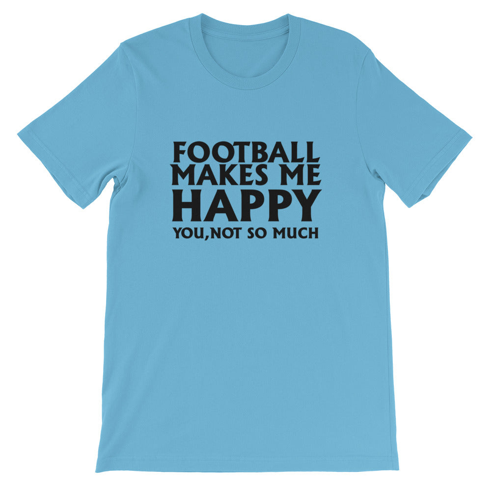 Football Makes Me Happy Short-Sleeve Women T-Shirt