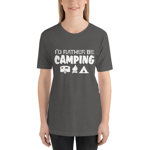 Image of I'd Rather Be Camping Short-Sleeve Women T-Shirt