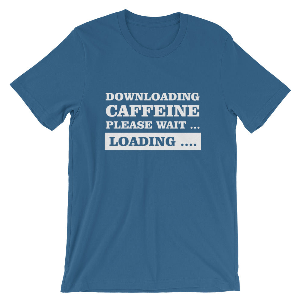 Downloading Caffeine Short-Sleeve Unisex T-Shirt