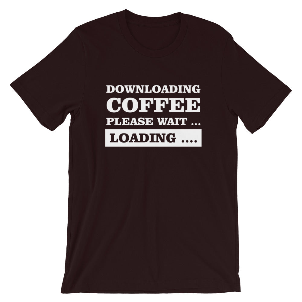 Downloading Coffee Short-Sleeve Unisex T-Shirt