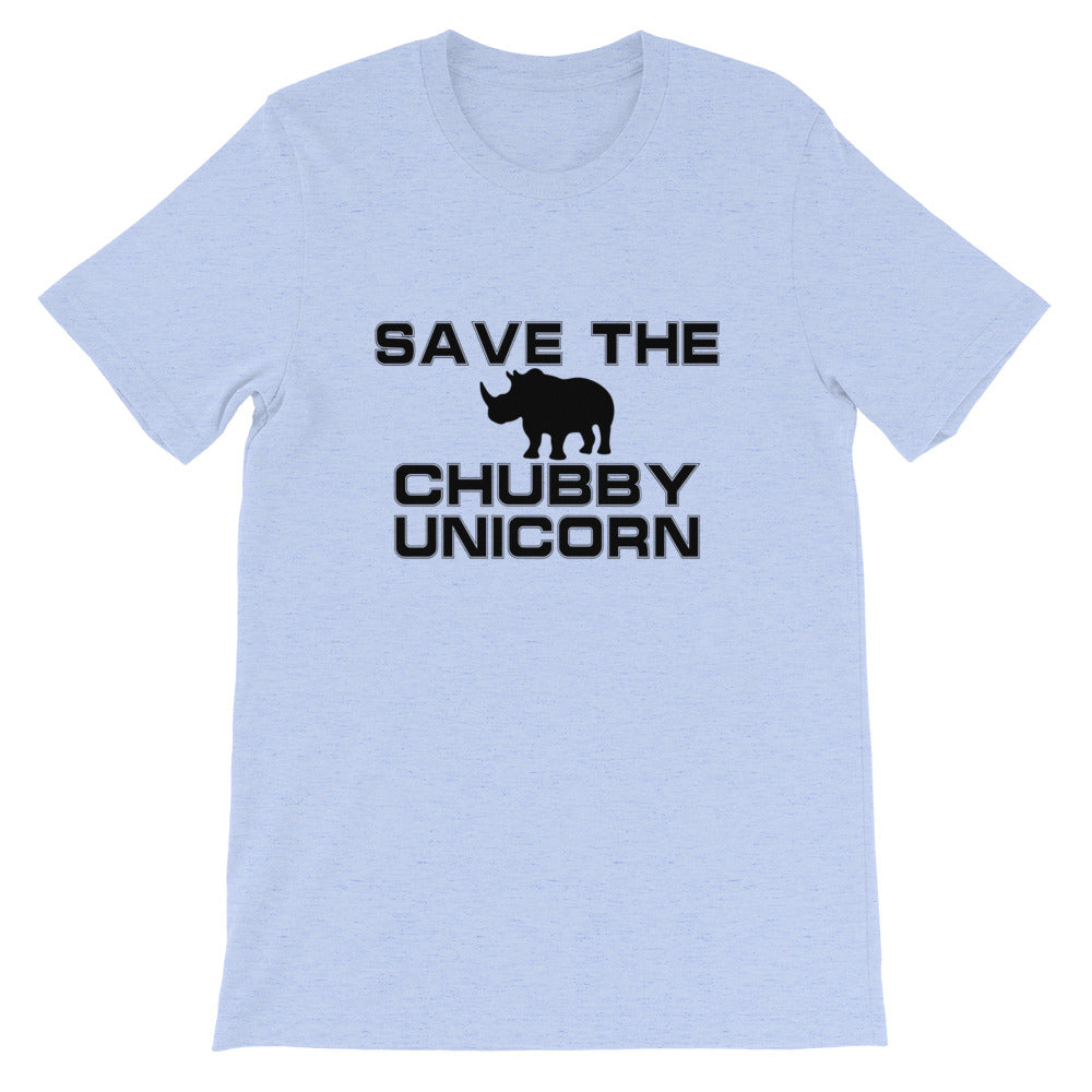 Chubby Unicorn Short-Sleeve Unisex T-Shirt